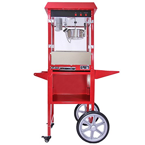 Popcorn Maker Machine / 8 Ounce Large Kukoo Pop Corn Machine With Matching Cart