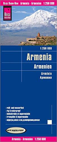Armenia, mapa impermeable de carreteras. Escala 1:1.250.000 impermeable. Reise Know-How. por VV.AA.
