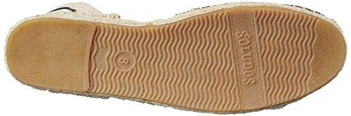 Soludos Classic Stripe Toile Espadrille Black