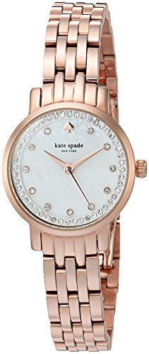 Kate Spade da donna 'Mini Monterey' Orologio al quarzo acciaio INOX casual, colore: rose gold-tonica (Model: KSW1243)