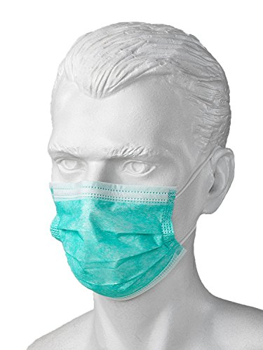 Arsa Medicare Anti-Dust Disposable Surgical Face-Mouth Cover Masks with Ear Loop, Pack of 50 (Green)  available at amazon for Rs.161