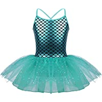 IEFIEL Tutu Vestido Princesa de Bailarina Maillot con Braga Interior  Vestido Danza para Niña Ballet Competicion ca13762498f
