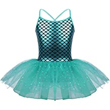0f94126645 IEFIEL Tutu Vestido Princesa de Bailarina Maillot con Braga Interior  Vestido Danza para Niña Ballet Competicion