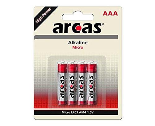 Arcas Alkaline Lr03/aaa/micro 4-er-blister, Silber, One size, 98 1 05 304