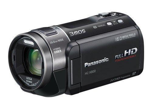 Panasonic HC-X800EG-K Full-HD Camcorder (7,6 cm (3 Zoll) Display, 12-fach opt. Zoom, 3MOS System Pro, Leica Objektiv, 29,8mm Weitwinkel, 3D-Option) schwarz