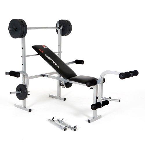Verstellbare Hantelbank inklusive Gewichten (25 kg) im Test