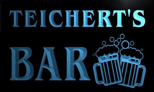 w042599-b TEICHERT Name Home Bar Pub Beer Mugs Cheers Neon Light Sign Barlicht Neonlicht Lichtwerbung