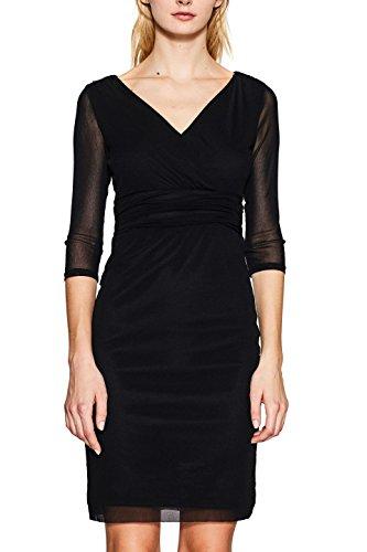 ESPRIT Collection 107eo1e026, Vestido para Mujer, Negro (Black 001), M