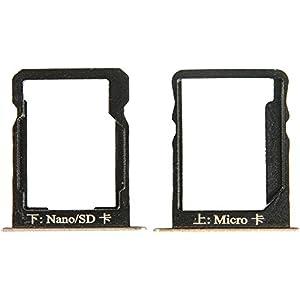 Original Huawei SIM und SD Halter gold für Huawei Ascend Mate 7 (Sim SD Holder, Tray)