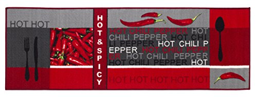 Andiamo 282565 tapis de couloir hot pepper, 100 % polyamide, 67 x 200 cm-gris rouge