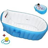 EOZY Baby Kids Kleinkinder Aufblasbare Badewanne Planschbecken Pool Schwimmbecken Tragbar Blau