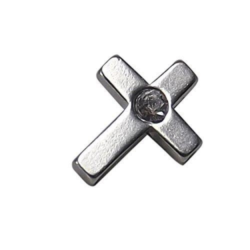 INKgrafiX® Dermal Anchor Aufsatz Microdermal KREUZ 5mm - Stahl 316l - IG30047