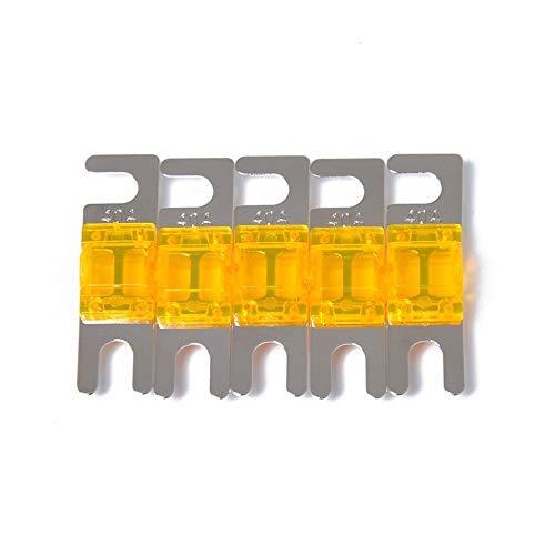 laonBonnie 5 Teile/Satz 30A / 40A / 60A / 80A / 100A Mini ANL Bolzen Gabel Sicherung Kit Car Audio Schutzschalter (Amp 30 Car-audio Sicherung)