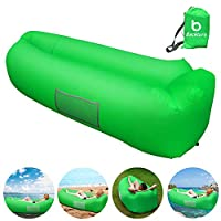 BACKTURE Inflatable Lounger, Air Sofa Lazy Carry Portable Waterproof Sleeping Bag Ultra-light Bed with Pillow Pool Float for Camping, Hiking, Swimming Pool, Beach, Backyard, Travelling