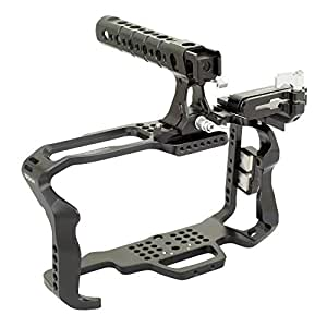 Proaim CNC Aluminum Cage with top Handle for Blackmagic Pocket Cinema Camera 4K (CG-BMPCC-4K-01) Mount Bracket for SSD Samsung