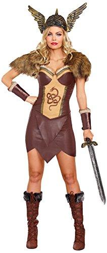 Dreamgirl 10222unersättlich Viking weiblich Kostüm (mittel) (Viking Womens Kostüme)