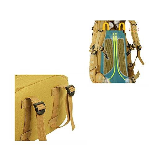 YAAGLE Outdoor Bergsteigen Taschen Schultertasche groß Fassungsvermögen Rucksack Wandern Camping-Paket draußen Reisetasche Tarnung 1