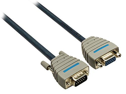 Eurosell - Ultra Highend VGA Verlängerungskabel VGA Stecker Male - buchse Kupplung female - Verlänerung Kabel - 2.00 m 2m 2 Meter -