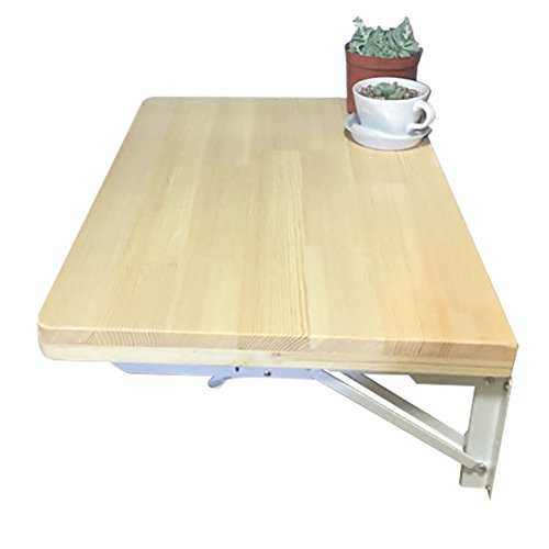 WNX Mesa de Pared Plegable de Madera Maciza Estudio Mesa de Desayuno Plegable de Pared abatible (Tamaño : 60 * 40cm)