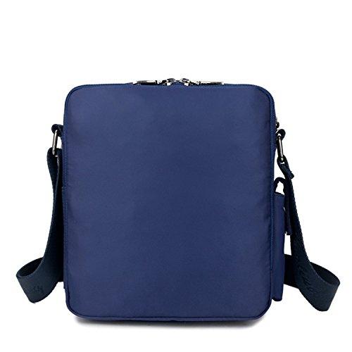 MeCooler Umhängetasche Schultertasche Retro Messenger Bag Vintage Kuriertasche Nylon Taschen Herren Handtasche Damen für Tablet kleine Sport Tasche Blau