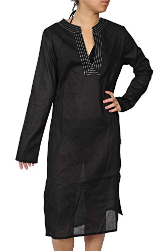 burberry-kleid-damen-schwarz-baumwolle-einfarbig