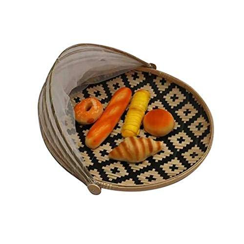 Surenhap Abdeckhaube Lebensmittel Abdeckung Zelt Fliegenschutz Obstkorb vor Insekten schützen für Picknick Esstisch Küche - (Schwarz, S:30 * 30 * 5 cm) -