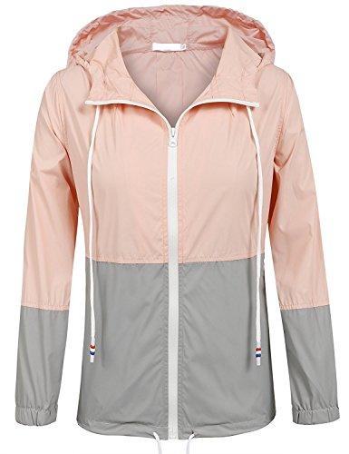 Regenjacke Damen Sommer Leichter Regenmantel Wasserfeste Outdoor Jacke