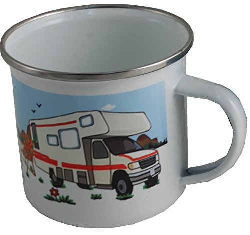 Dreamair Mug en émail Motif Camping-Car