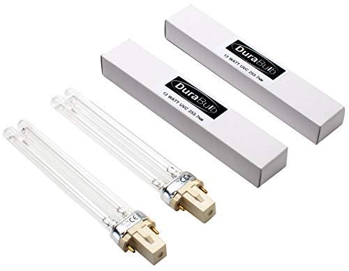 DuraBulb® Ersatz UV (Ultra Violet) Lampe für Teich UVC Filter & Klärer 5W 7W 9W 13W - Twin Pack 13W