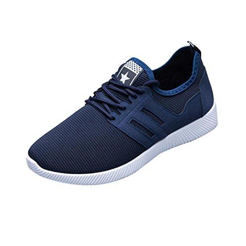 ღ UOMOGO Unisex Uomo Scarpe da Ginnastica Corsa Sportive Fitness Running Sneakers Basse Interior Casual all'Aperto, Sneaker Mesh 39-45