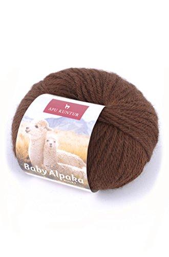 Alpaka-Wolle 5er-Pack AKTIONSPREIS Baby-Alpaka Wolle REGULAR 5x50g dunkel-braun