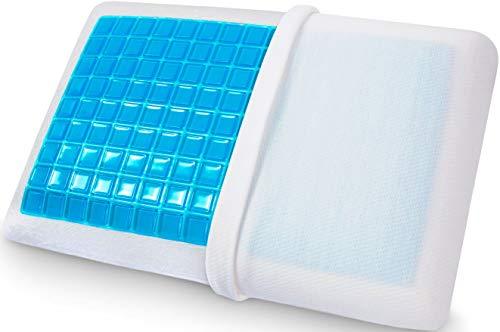Supportiback Almohada terapéutica de cama con gel disipador de calor.Reversible funda extraíble hipoalérgena...