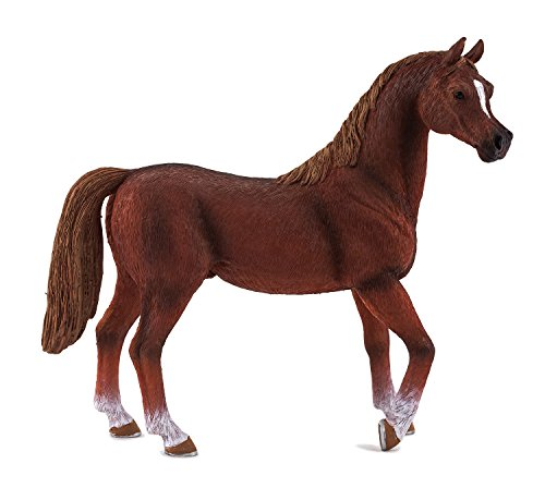 MGM - 387084 - Figurine Animal - Cheval Etalon Arabe Alezan XL - 11 X 12 Cm