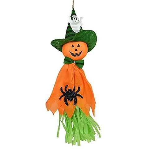 Zantec Netter reizender Kürbis Geist Anhänger Halloween Wand Tür Fenster hängende Verzierungen für Garten Yard Halloween Party Dekor Haunted Häuser Dekorationen (Cosplay Haus Kostüme)