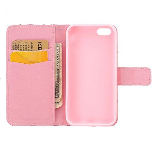 PU Silikon Schutzhülle Handyhülle Painted pc case cover hülle Handy-Fall-Haut Shell Abdeckungen für Apple iphone 5C +Staubstecker (10) 4