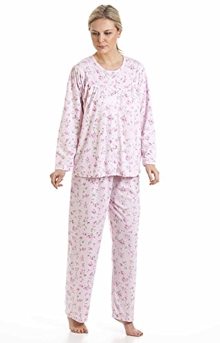 En tricot pour femme Motif Floral Bloom Kuddle Lenoge 57417 Pyjama en polycoton Rose - Rose