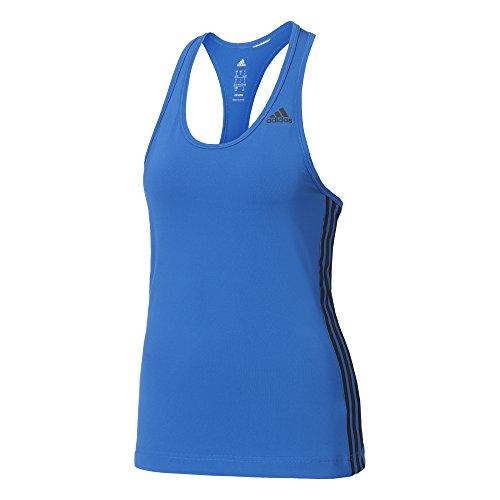 adidas Damen Designed 2 Move 3-Streifen Tanktop, Blue, S Preisvergleich