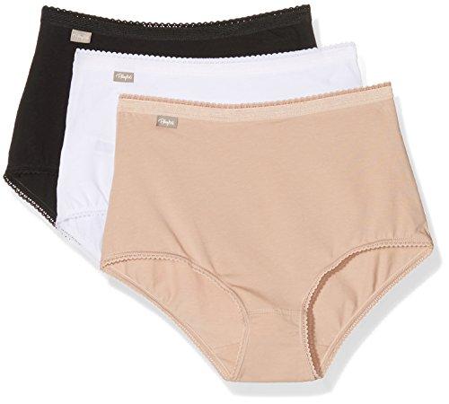 playtex-00bq-bragas-para-mujer-multicolor-blanc-beige-noir-42-pack-de-3