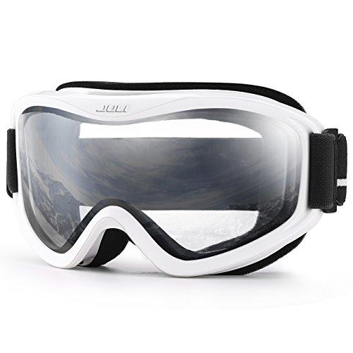 Juli Skibrille,Winter Schnee Sport Snowboard Schutzbrille mit Anti-Nebel UV-Schutz Doppel Linse für Männer Damen&Jugend (Snocross-schutzbrillen, Klare Linse)