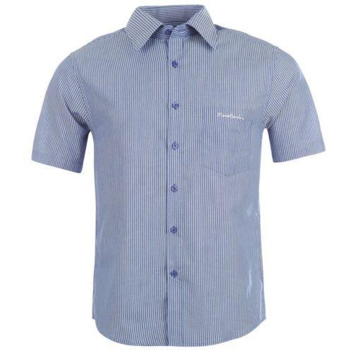 pierre-cardin-mens-short-sleeve-shirt-mens-blue-white-m