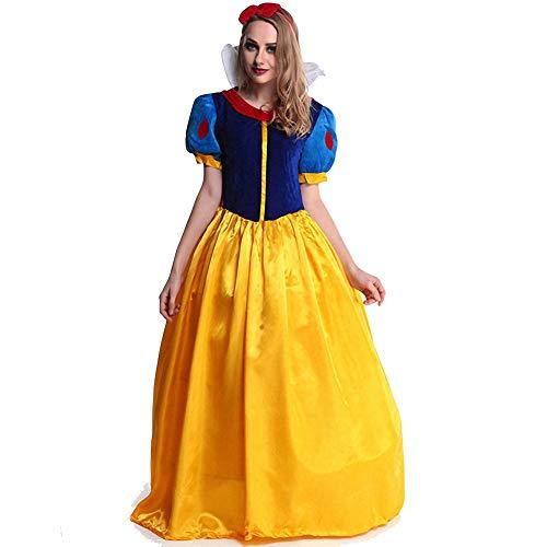 Schneewittchen Teenager Kostüm - XSH Damen Sexy Mantel Schneewittchen Kostüm Cos Halloween Rollenspiel Uniform Set,Gelb,L