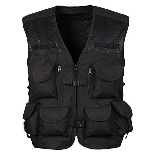DDDFVVDS MJJ/Baumwolle Anglerweste Vest. Professional Outdoor Vest. Weste, 2-XXL