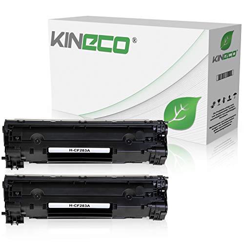 2 Kineco Toner kompatibel zu HP CF283A Laserjet Pro MFP M125nw, M126nw, M127fw, M128fp - Schwarz je 1.500 Seiten