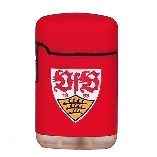 Feuerzeug VfB Stuttgart | Easy Torch Rubber mit Logo rot