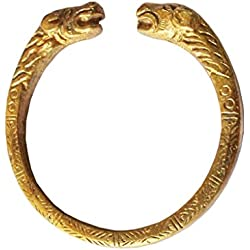 Mens Fashion Jewellery gold Punjabi Sikh Sher (Tiger) Kada