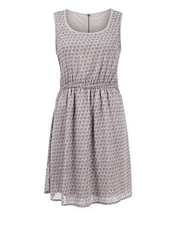 s.Oliver Damen Kleid 14.408.82.7104 Mehrfarbig (opal grey AOP 91A1)