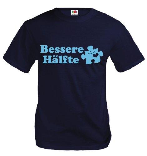 buXsbaum® T-Shirt Bessere Hälfte Royal-Skyblue