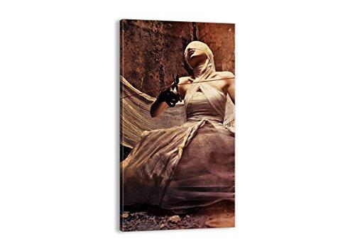 Bild auf Leinwand - Leinwandbilder - Einteilig - Breite: 65cm, Höhe: 120cm - Bildnummer 0217 - zum Aufhängen bereit - Bilder - Kunstdruck - PA65x120-0217 (Film Halloween-kostüme Schauspielerin)