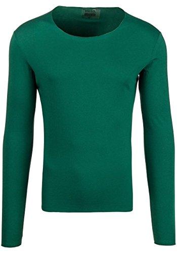 BOLF STEGOL Herren Longsleeve Langarm Shirt Slim Fit Pullover Sweatshirt 1A1 Mix Grün__ST_546