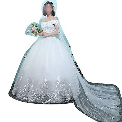 Frauenkleid Mit schlanker Größe Kleider Winter 2019 Brautkleider (Size : M)